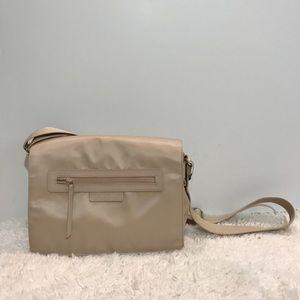 Longchamp Cream Nylon Messenger Crossbody Bag